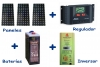 FOTOVOLTAIC ISLAND KIT 12 VOLT - 1000 WATT / DAY